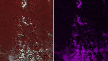 На Плутон заснеха планина, покрита със сня