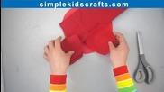 Как да направим голяма роза от хартия