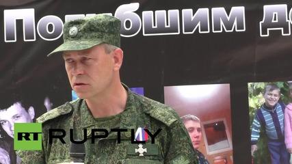 Ukraine: Donetsk mourns the children killed in E. Ukraine conflict