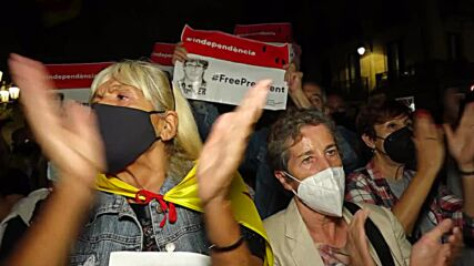 Spain: Protesters rally in Barcelona in support of fmr Catalan pres Puigdemont
