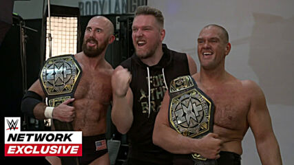 Pat McAfee joins Burch & Lorcan for their first photo shoot as champions: WWE Network Exclusive, Oct. 21, 2020