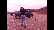 Girl shoots Assualt Rifle Sks