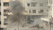 Взривяване на Руски танк Т-72 в Сирия с противотанкова ракета.