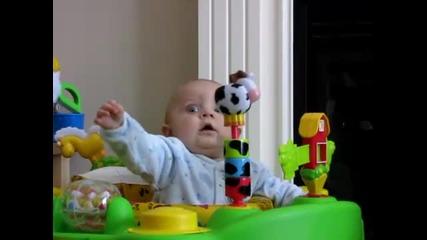 Малко бебе Се плаши