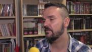 Владимир Ампов Графа чете Войната на таралежите в Националната седмица на детската книга