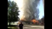Пожарa в жк.kрасна Поляна днес 14.06.09