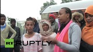 France: Refugees protest PM Vall's visit to Calais refugee camp
