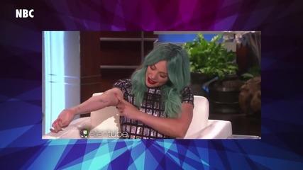 Hilary Duff Explains Blue Hair
