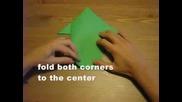 Оригами - Скачаща Жаба
