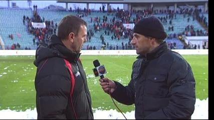 Стойчо Младенов - Контролирахме мача, вече няма какво да мислим за Левски