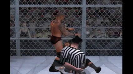 Raw vs Smackdown 2011 - Randy Orton vs Triple h |hell in a Cell|