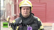Russia: Fire engulfs car servicing centre in Moscow