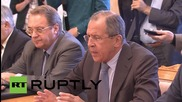 Russia: FM Lavrov touts Syrian opposition's role in peace talks