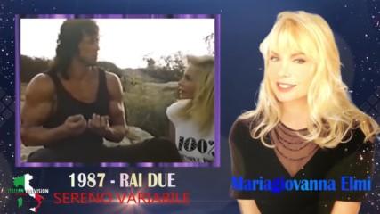 Силвестър Сталоун по време на снимките на Рамбо 3 дава интервю на Мария Джована Елми