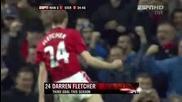 Manchester United vs Everton 1:0 21.11.2009 Darren Fletcher