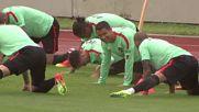 Португалия тренира преди мача с Исландия
