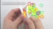 Как да направим гривна тип рибена кост от ластици за коса