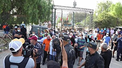 Tunisia: Saied supporters gather outside Parliament after President sacks PM