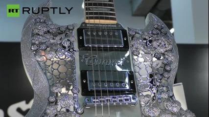 Германия: Тази диамантена китара на цена 2 милиона долара е най-скъпата китара на света