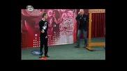 Music Idol 3 Кастинг Пловдив - Иван И Андрей Изкарват Участника като Цар