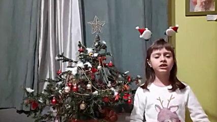 Мира Георгиева (1. А клас) рецитира стихове на Иван Вазов