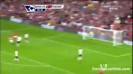 първият гол на Робин ван Перси за Ман Юнайтед