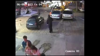 Биячи блъскат коли наред на паркинг в Слънчев бряг!