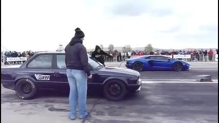 Bmw E30 vs Lamborghini Aventador