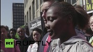 USA: Dozens support Akai Gurley and protest police brutality outside NYC c