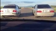 Mercedes E320 4matic срещу Bmw 525i с автоматични скоростни кутии!
