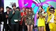 (hd) Today's Winner - Psy (gangnam style) ~ Music Bank (02.11.2012)