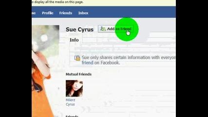 Истинския фейсбук на Майли Сайръс