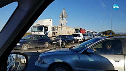 Тапа блокира Околовръстния път на София