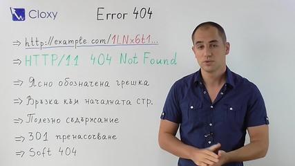 Грешка 404 - Страницата не е намерена и Seo