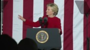 USA: Clinton rallies supporters alongside Obama on election eve