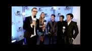 Jonas Brothers on the red carpet on Emas Berlin 2009