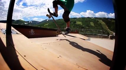 Amazing 9 year old skateboarder