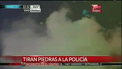 Безредици в Аржентина след загубата от Германия! *13.07.2014г.*