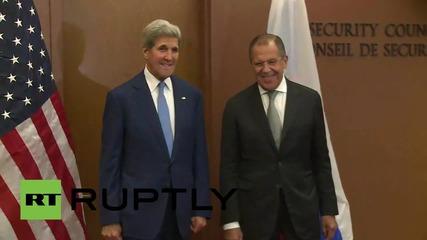 ОН: Лавров се срещна с Кери след като го обяви на събранието на ОН