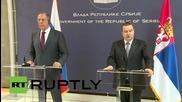 """Сърбия: Русия е силно загрижена за """"организирания тероризъм"""" в Македония - Лавров"""