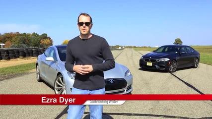 Bmw M5 (f10) срещу Tesla Model S