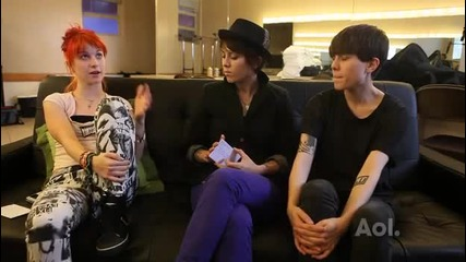 Tegan and Sara w/ Hayley Williams (paramore) Spinner interview