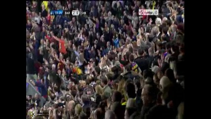 06.04.2011 - Шампионска лига - Барселона 2 - 0 Шахтьор Донецк гол на Дани Алвеш