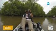 Крокодил изненада неприятно рибар