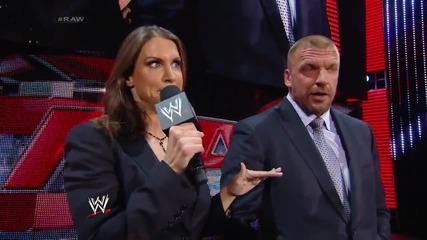 Stephanie Mcmahon asks Daniel Bryan to apologize Raw (10.03.14)