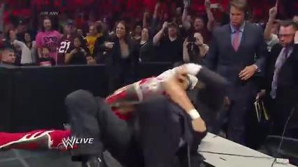 Batista vs. Randy Orton - No Disqualification Match Raw, March 31, 2014