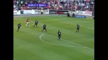 Glentoran - Manchester United 0 - 3 Nani