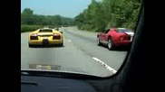 Bmw M5 E60 Vs Ford Gt40 And Lambo
