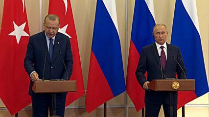 Russia: Turkey and Russia to establish demilitarised zone in Idlib - Putin