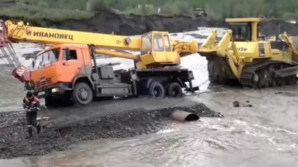 Руските пътища на север са меко казано непроходими!